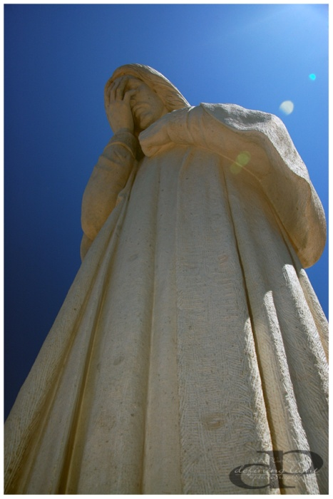 """""""And Jesus Wept"""" Statue across the street from Oklahoma City National Memorial."""