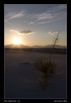 White Sands Sunset I