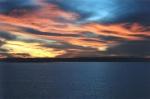 Sunset over Lake Grapevine Royal Gold 200 w/ Polarizing Filter